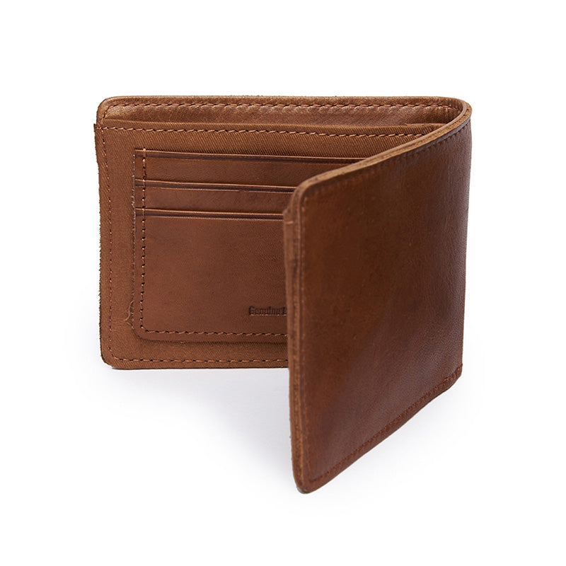 Leather Billfold Wallet Tan Brown - Royal Enfield