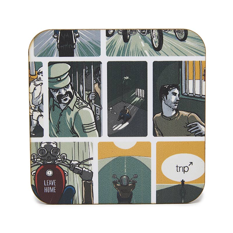 Leave Home Coaster Set Multicolour - Royal Enfield