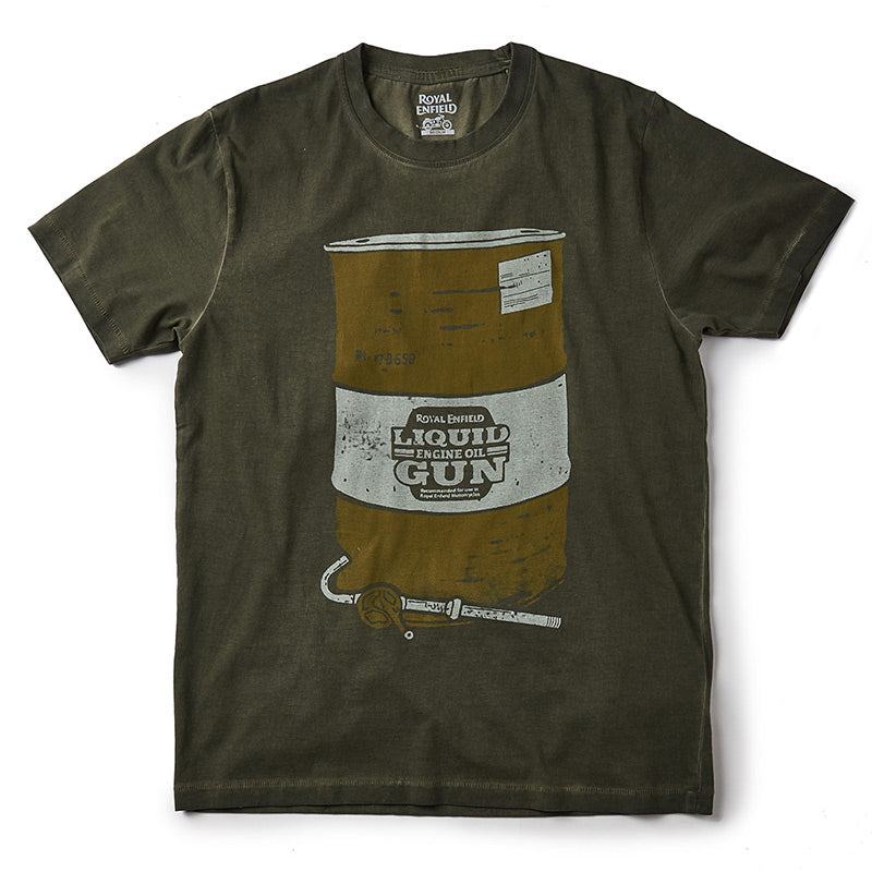 Liquid Gun Barrel T-Shirt Olive Green