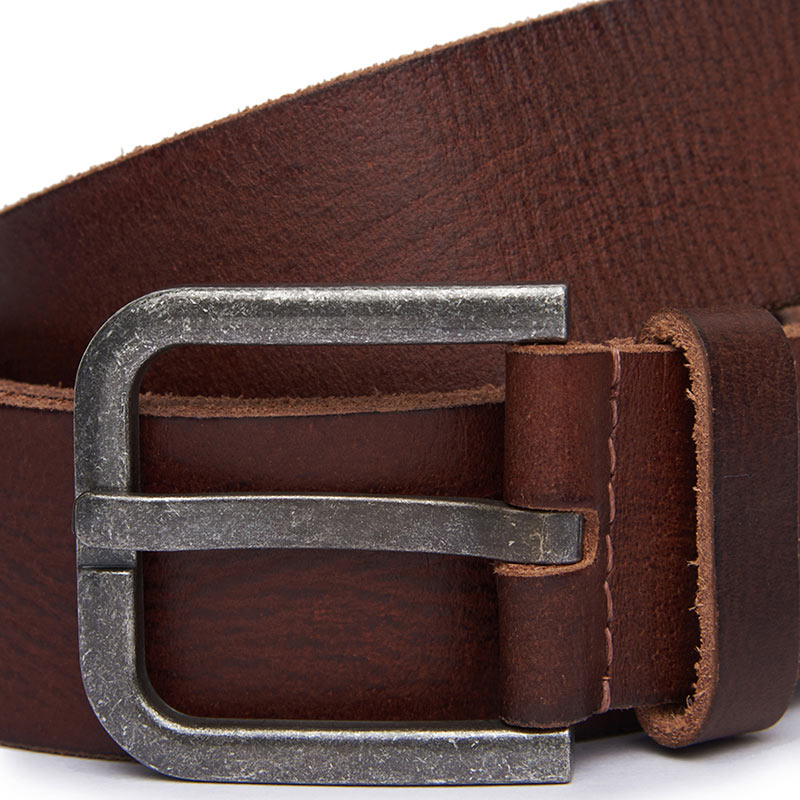Metal Marque Belt Brown