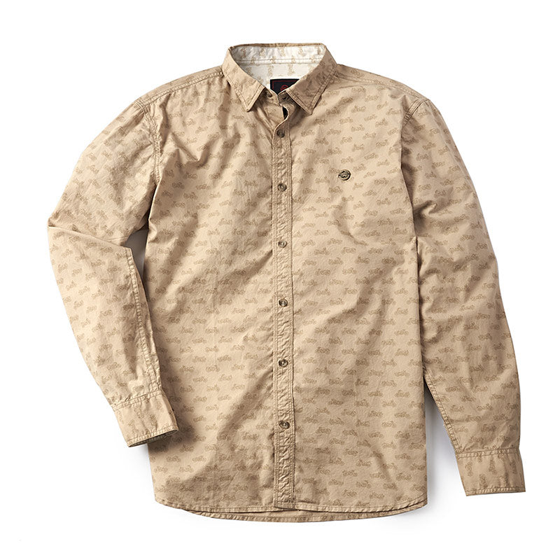 Moto Aop Shirt Khaki Brown