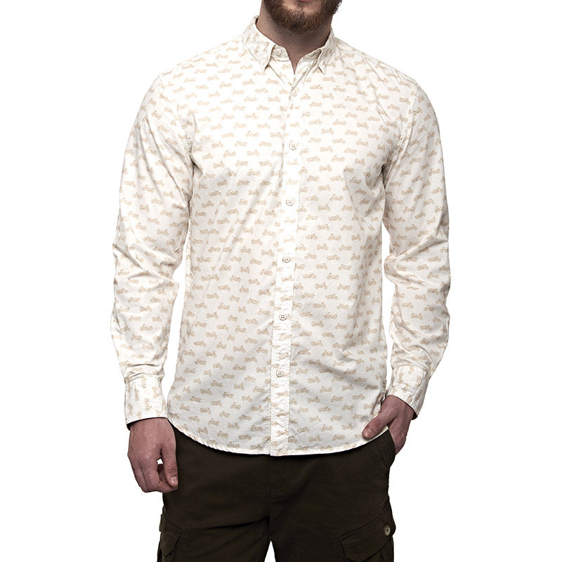 Moto Aop Shirt Winter White