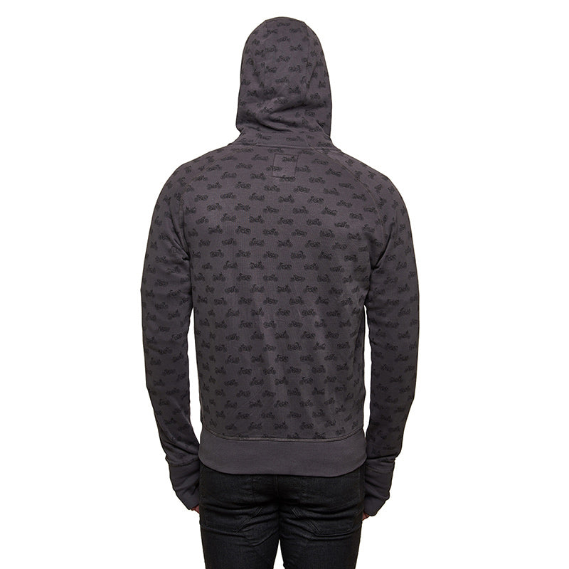 Moto Aop Sweatshirt Charcoal Grey