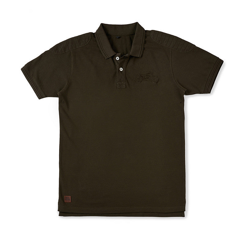 3dbd9e96fc33 Buy Moto Patch Polo T-Shirt (Olive Green) Online