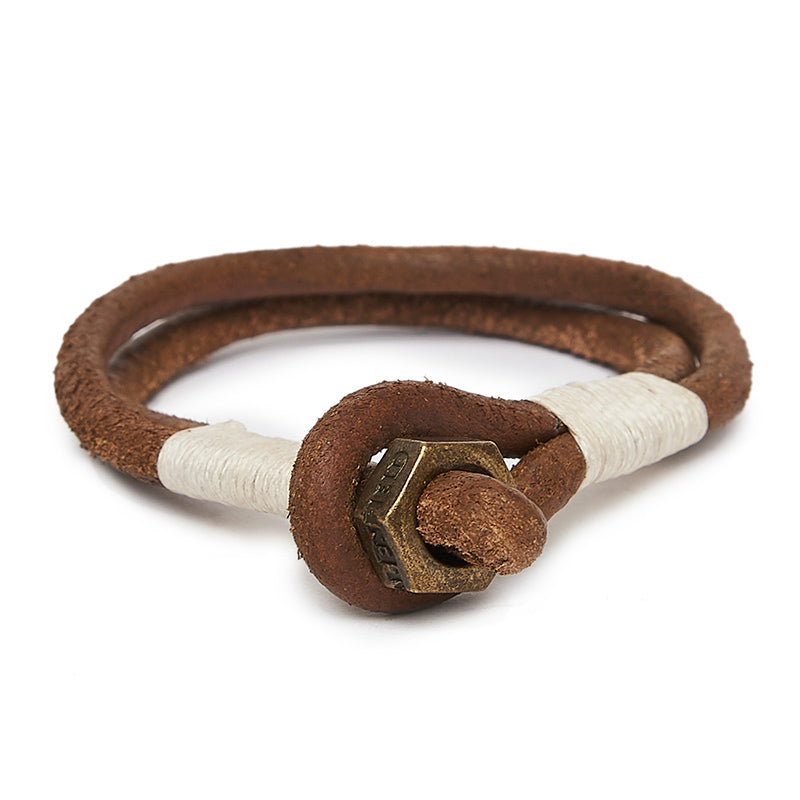 Nut Hook Bracelet Tan Brown