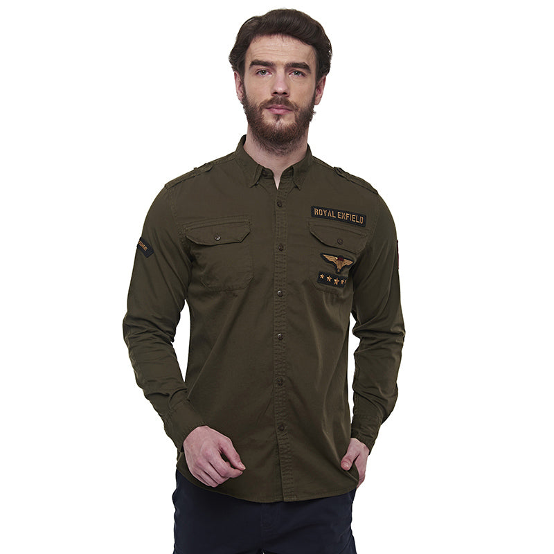 Parachute Regiment Shirt Olive Green