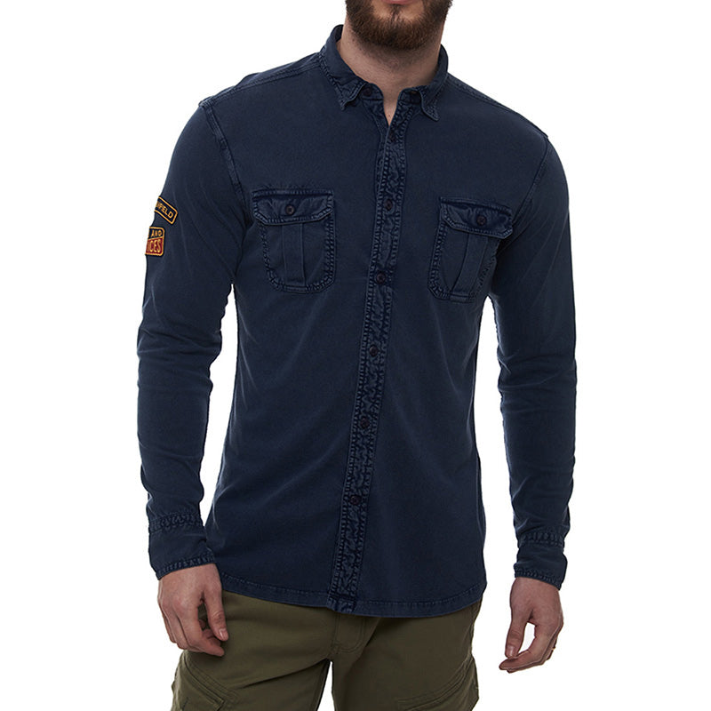 Parts And Services Jersey Shirt Dark Blue