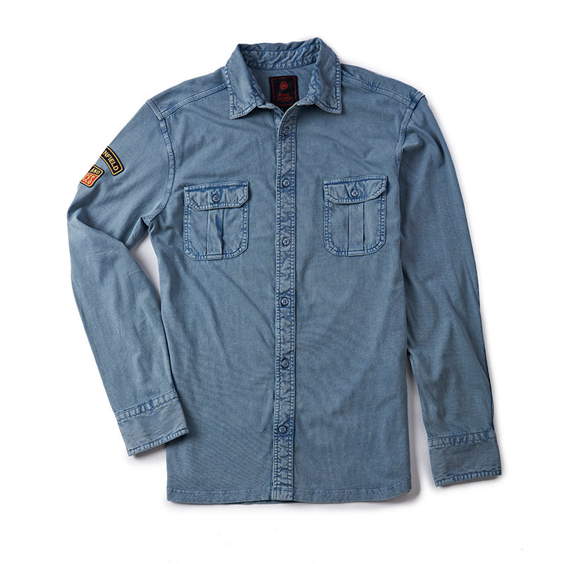 Parts And Services Jersey Shirt Light Blue