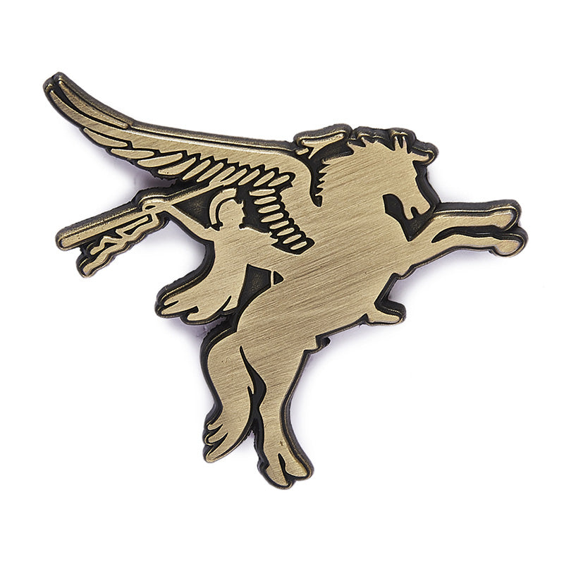 Pegasus Lapel Pin Antique Silver