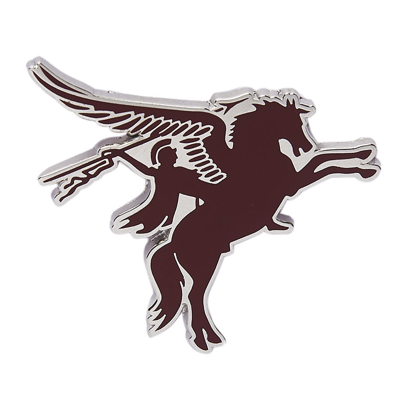 Pegasus Lapel Pin Maroon Red