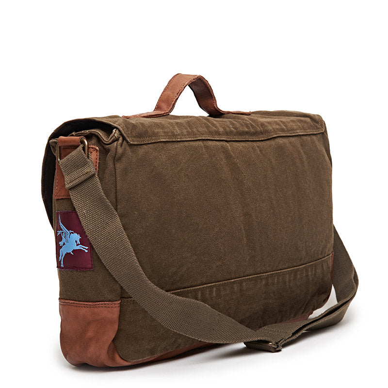 Pegasus Messenger Bag Olive Green