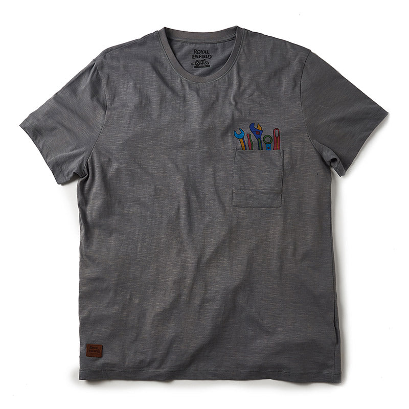 Pocket Tools T-Shirt Grease Grey