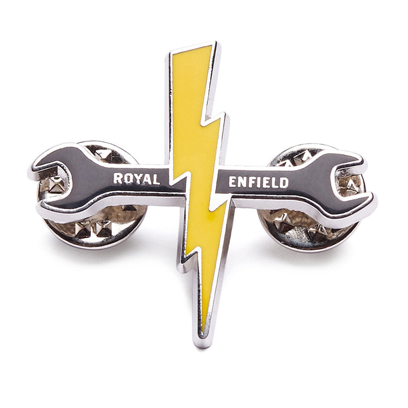 Spark & Wrench Lapel Pin Yellow