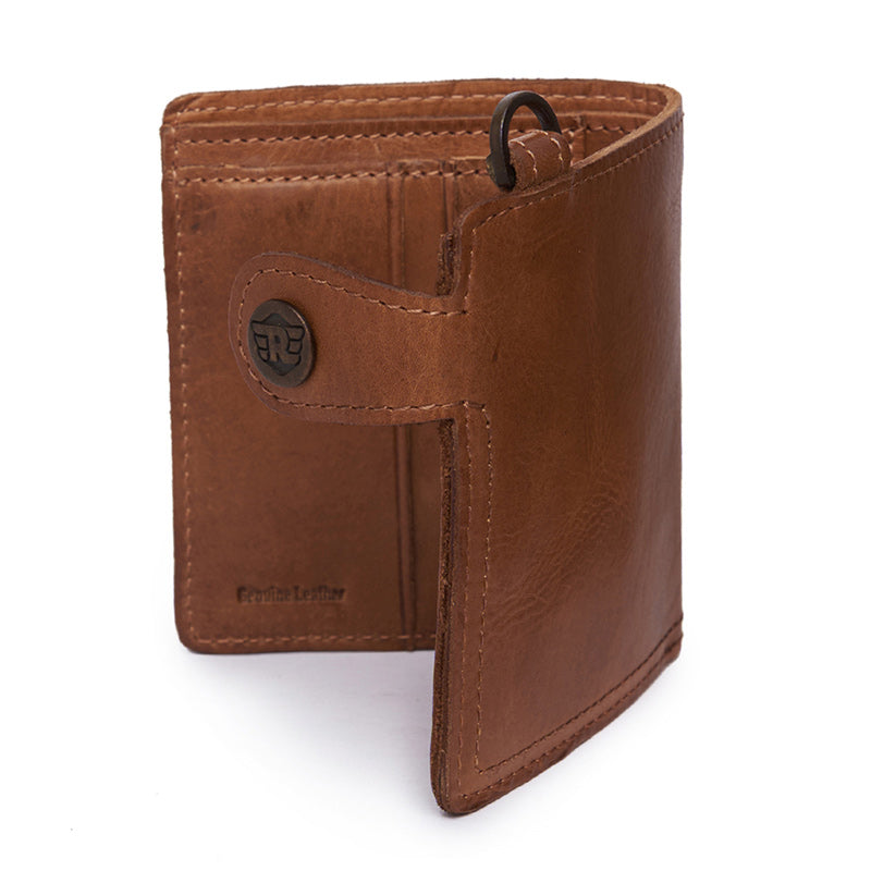 Tab Lock Wallet Tan Brown