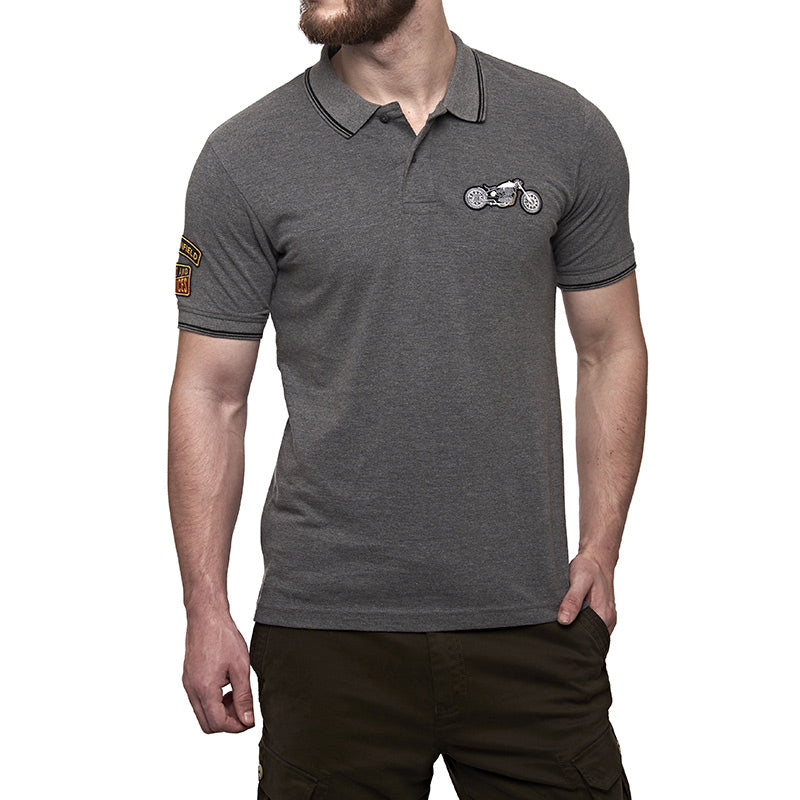 The Whole Gamut Polo T-Shirt Melange Grey