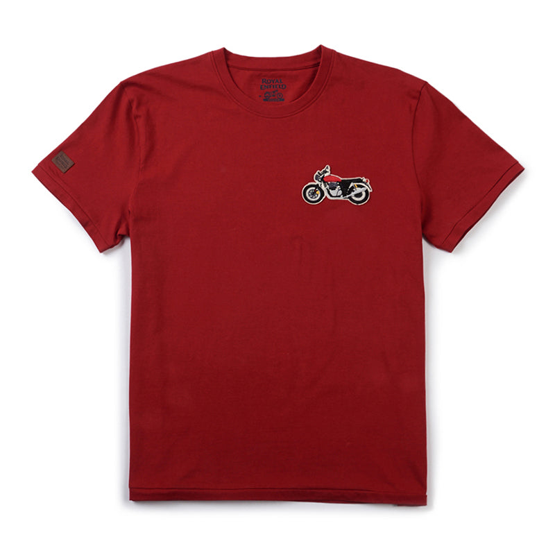 1968 Interceptor Logo T-Shirt Red - Royal Enfield