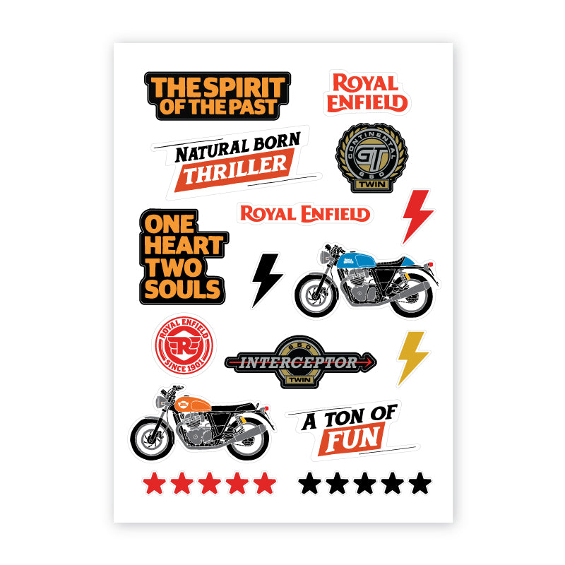 650 Twins Sticker Sheet - Royal Enfield