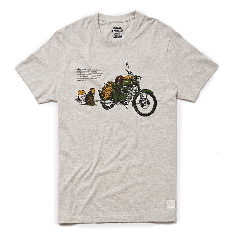 ADVENTURE LEXICON T-SHIRT - Melange Grey