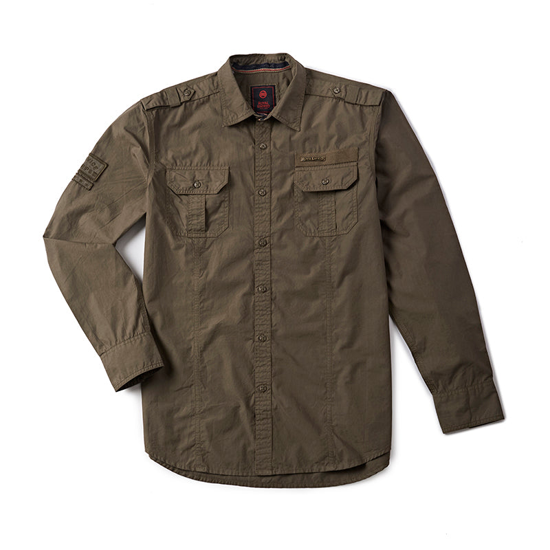 Army Fatigue Shirt Drab Olive - Royal Enfield