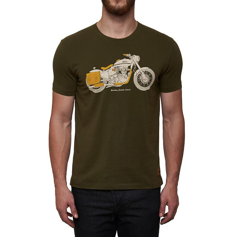 Bombay Custom Works T-Shirt Olive Green