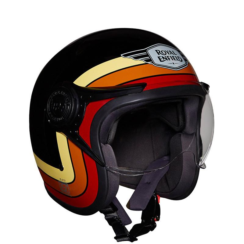 Border Stripes Helmet Gloss Black