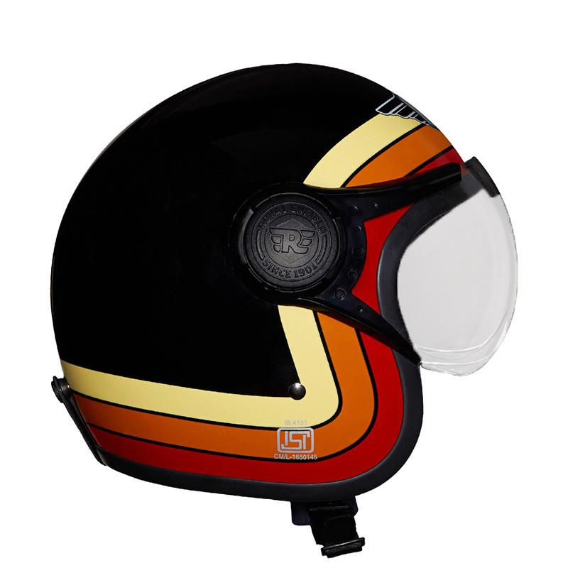 Border Stripes Helmet Gloss Black - Royal Enfield