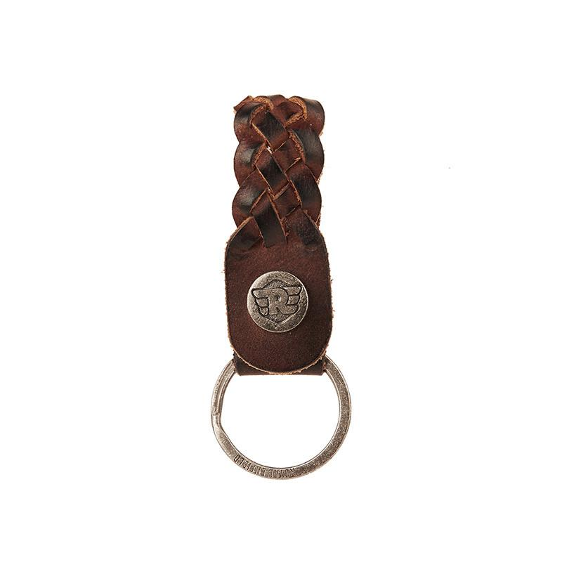 Braided Leather Keychain Dark Brown - Royal Enfield