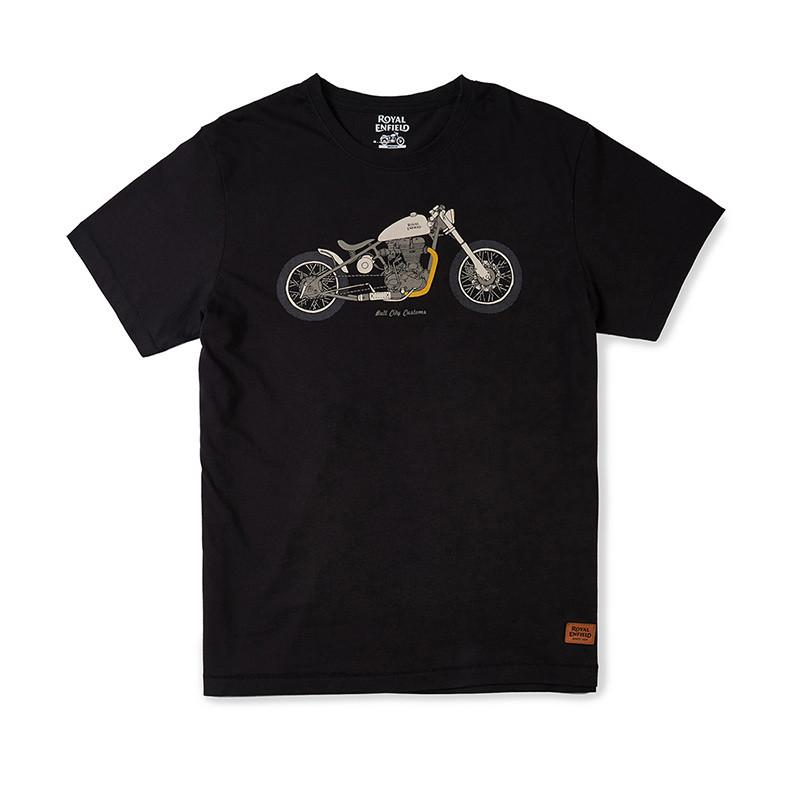 Bull City Customs T-Shirt Black - Royal Enfield