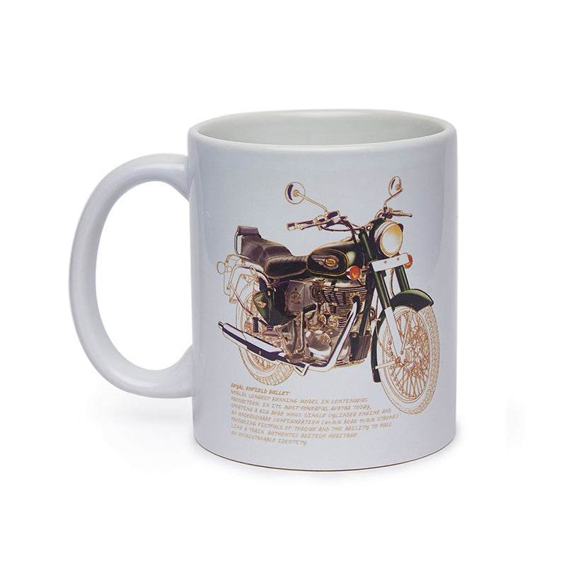Bullet 500 Coffee Mug White - Royal Enfield