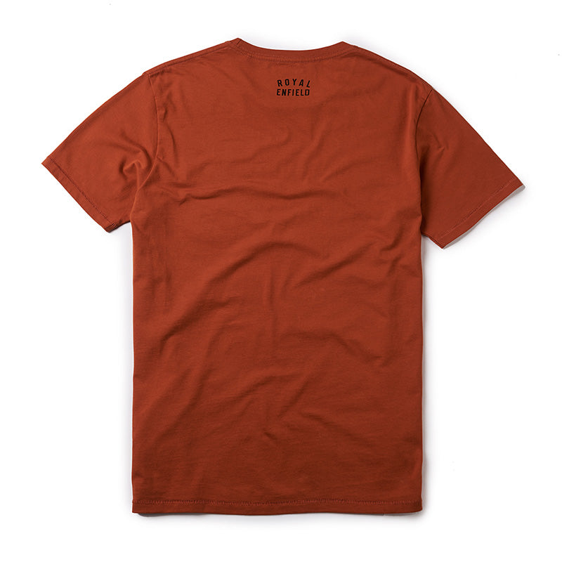 Bullet Crosshatch T-Shirt Rust Red - Royal Enfield