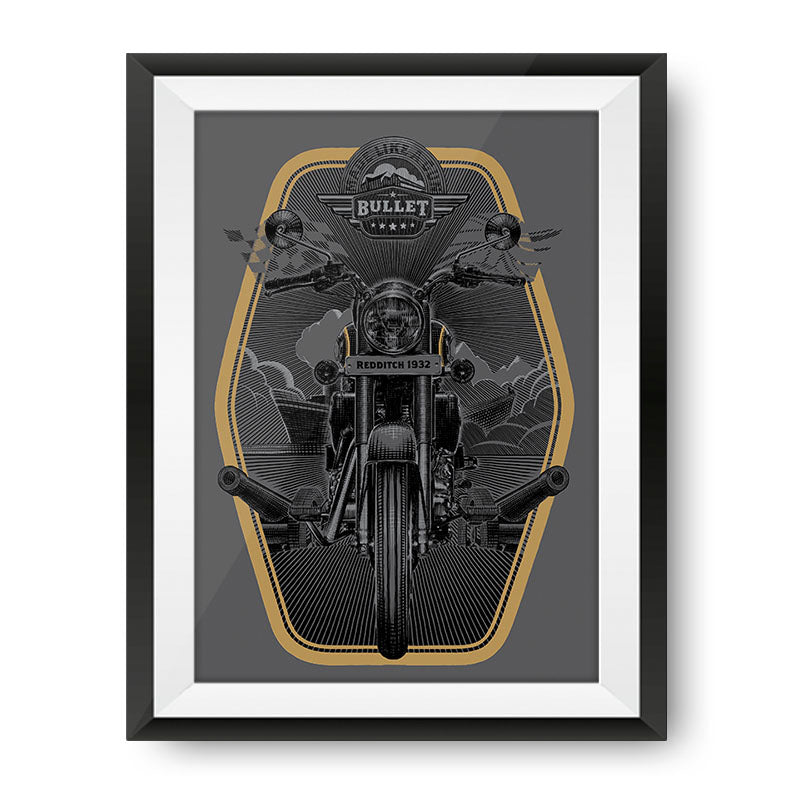 Bullet Heritage Poster - Royal Enfield