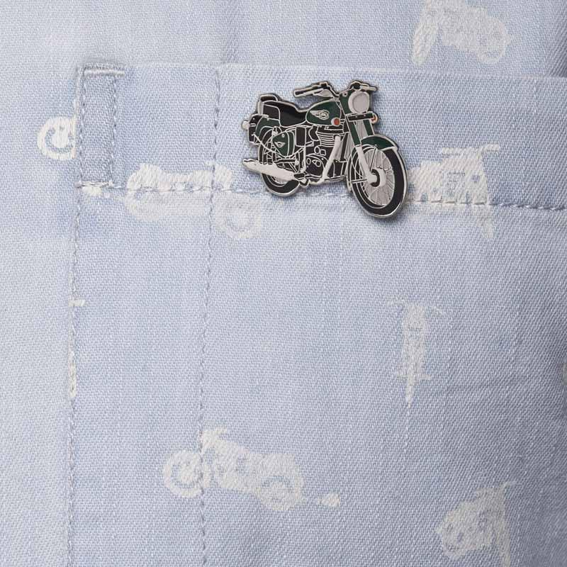 Royal Enfield Bullet Lapel Pin Forest Green