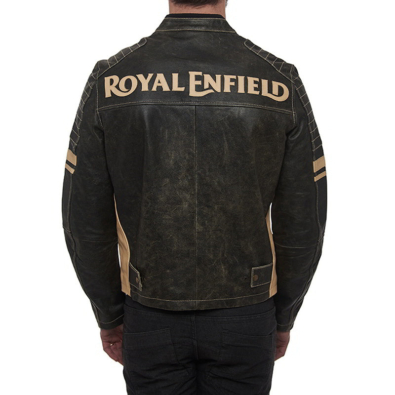 d2d1f59a89918 Drifter men Leather Riding Jacket - Olive Green | Royal Enfield Store