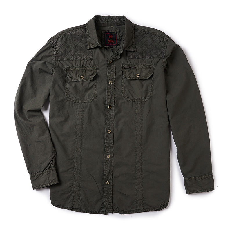 Flying Flea Shirt Olive Green - Royal Enfield