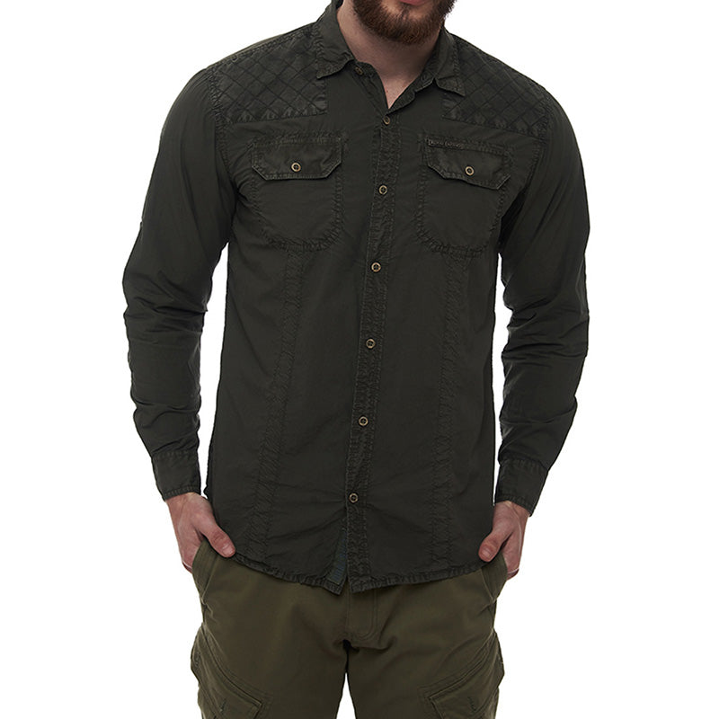 Flying Flea Shirt Olive Green
