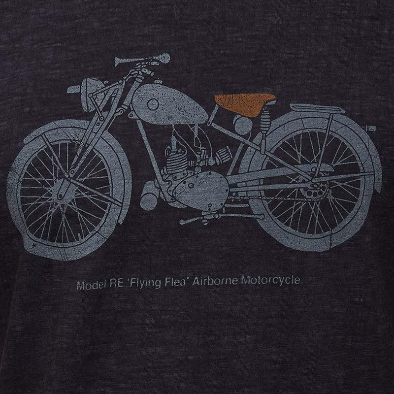Flying Flea T-Shirt Navy Blue - Royal Enfield