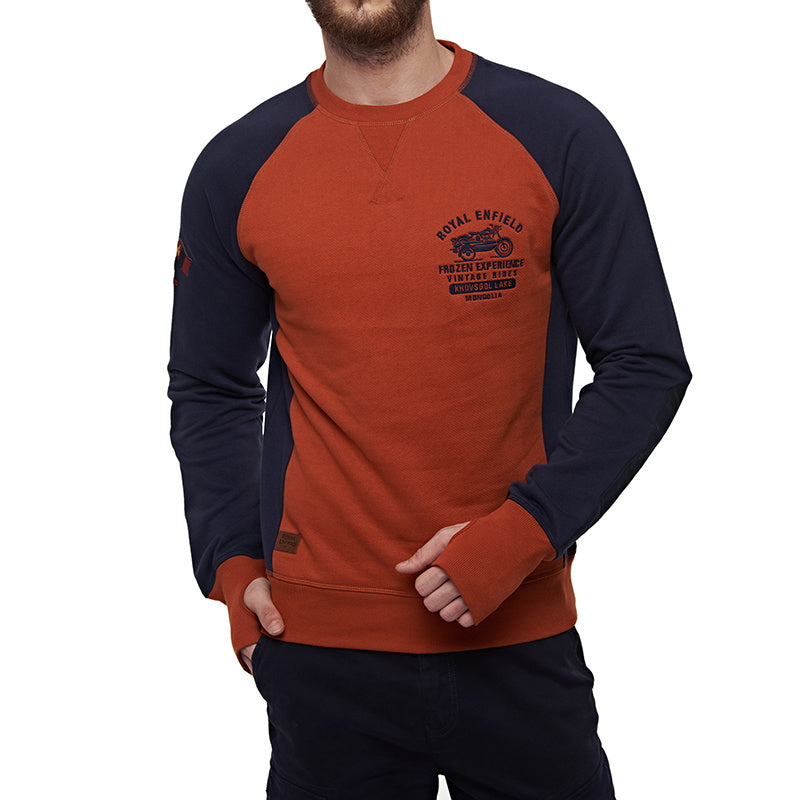 FROZEN RIDE SWEATSHIRT Orange Blue