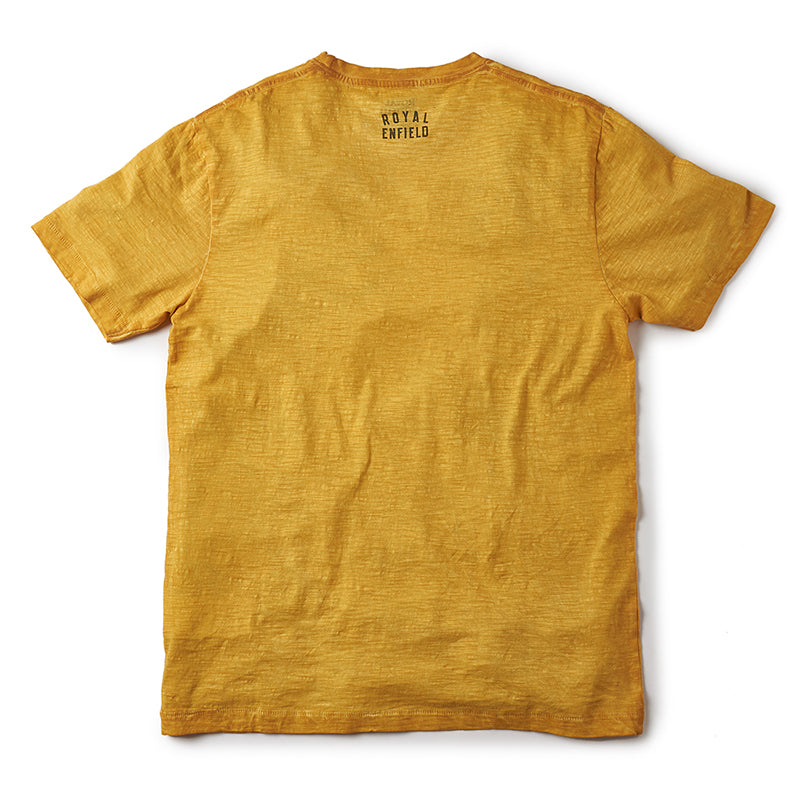 Isdt Model J T-Shirt Mustard Yellow - Royal Enfield