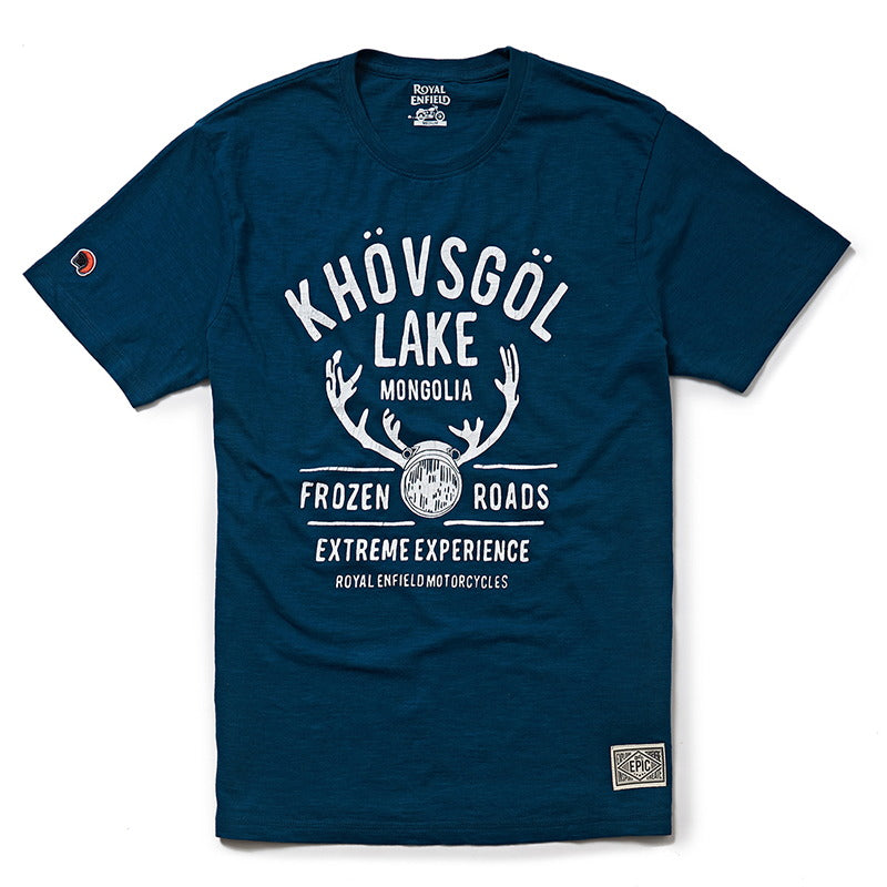 ICING ON A LAKE T-SHIRT - Lake Blue