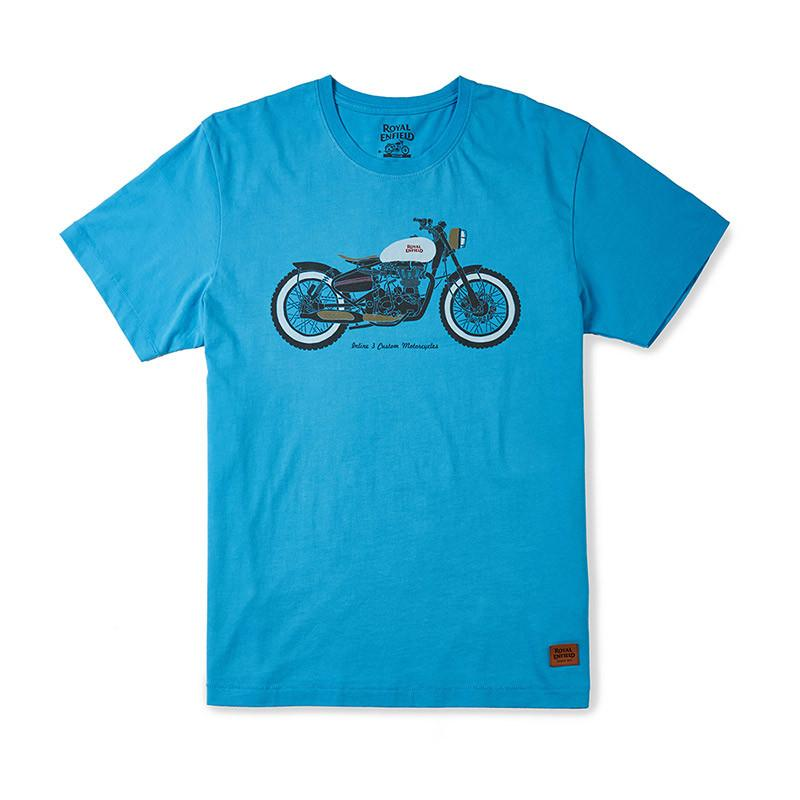 Inline 3 Custom Motorcycles T-Shirt Sky Blue