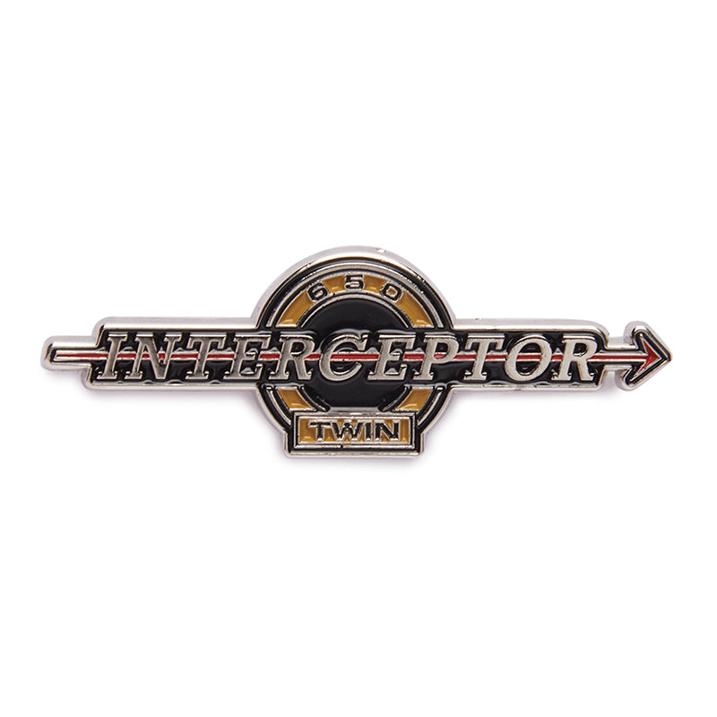 Interceptor 650 Lapel Pin Black Yellow