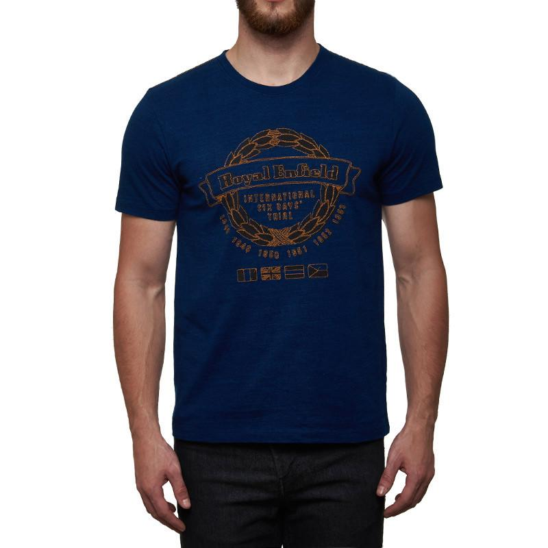 International Six Day Trial T-Shirt Indigo Blue - Royal Enfield