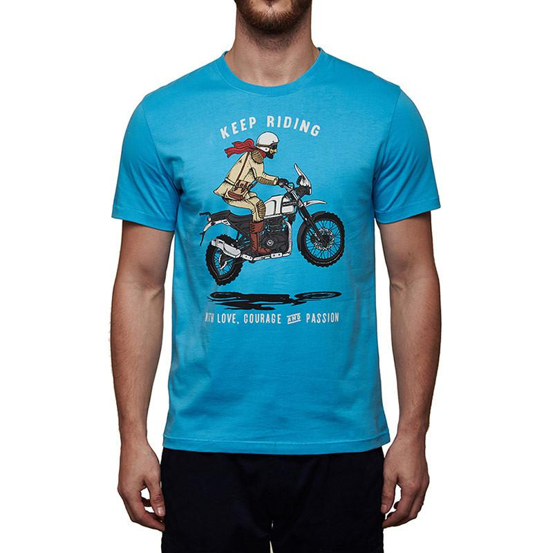 Keep Riding Himalayan T-Shirt Sky Blue