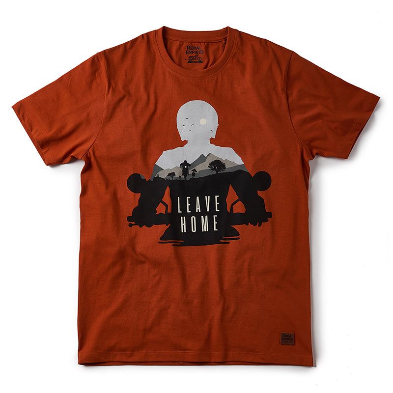 Leave Home T-Shirt Sunset Orange - Royal Enfield