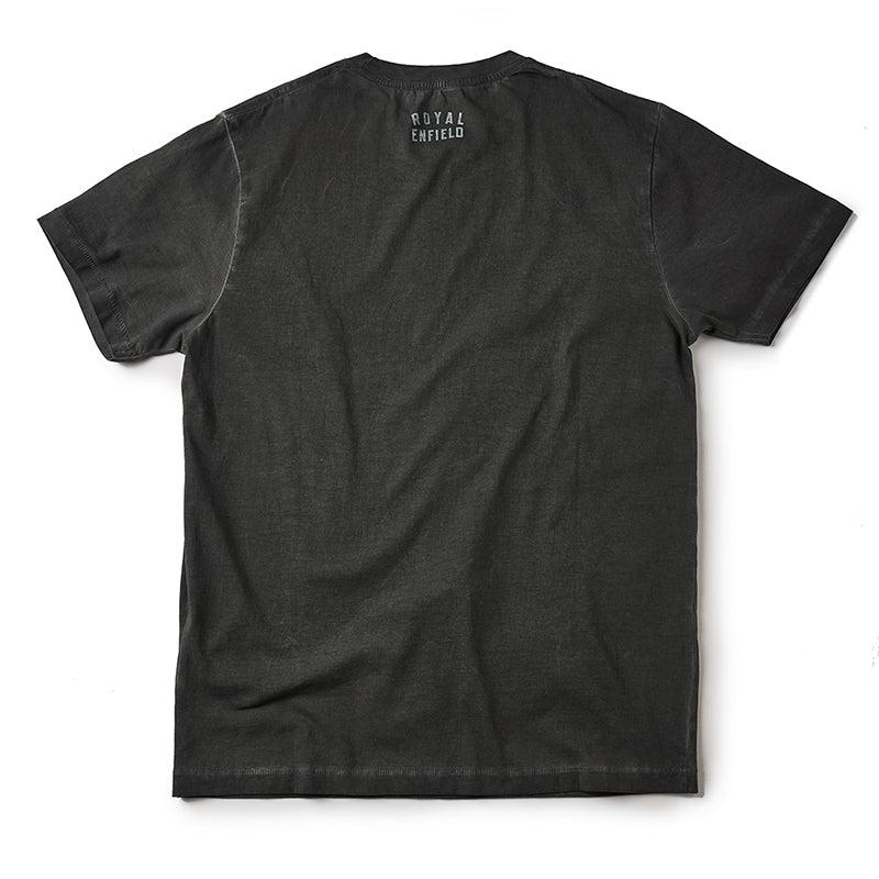 Liquid Gun Barrel T-Shirt Sludge Black - Royal Enfield