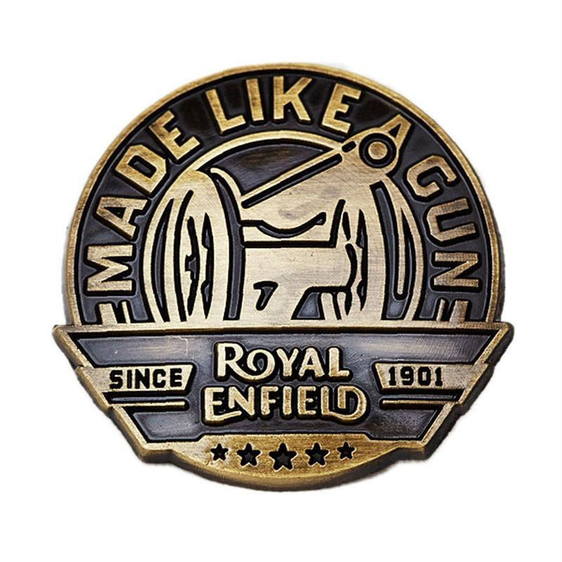 Royal Enfield MLG Brass Lapel Pin Brass Brown