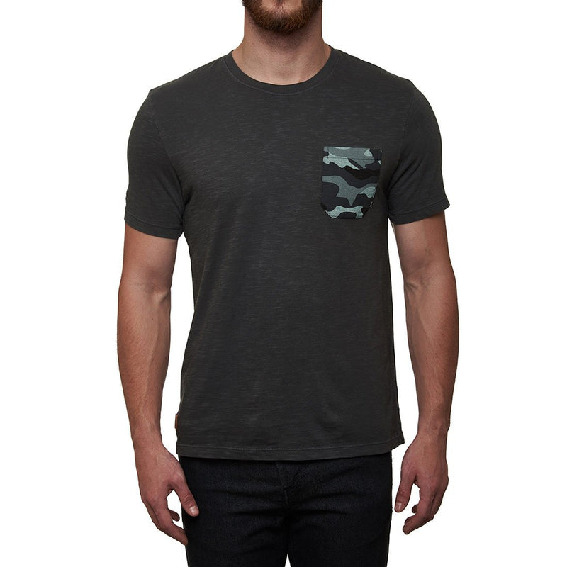 Royal Enfield MLG Camo Pocket T-Shirt Charcoal Grey