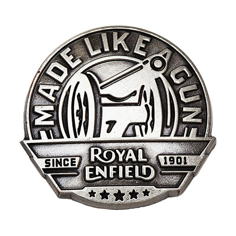 Royal Enfield MLG Gun Metal Lapel Pin Gun Metal Grey