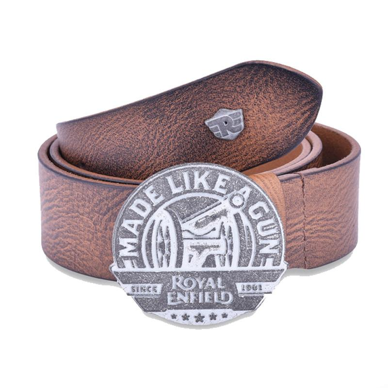 Made Like A Gun Leather Belt Tan