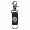 Royal Enfield Metal Hook Leather Keychain Black